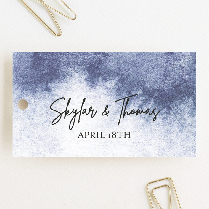 """Gilded Beauty"" - Wedding Favor Tags in Beach by Jen Merli."