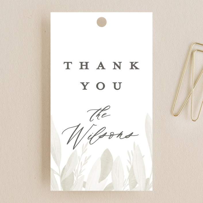 """Whispered"" - Rustic Wedding Favor Tags in Lichen by Everett Paper Goods."