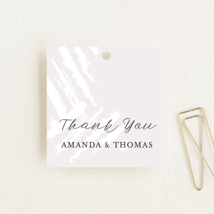 """Brushstroke"" - Wedding Favor Tags in Blush by Tatiana Nogueiras."