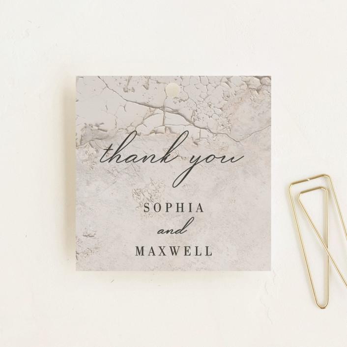 """""""Sophia"""" - Bohemian Wedding Favor Tags in Latte by Lisa Assenmacher."""