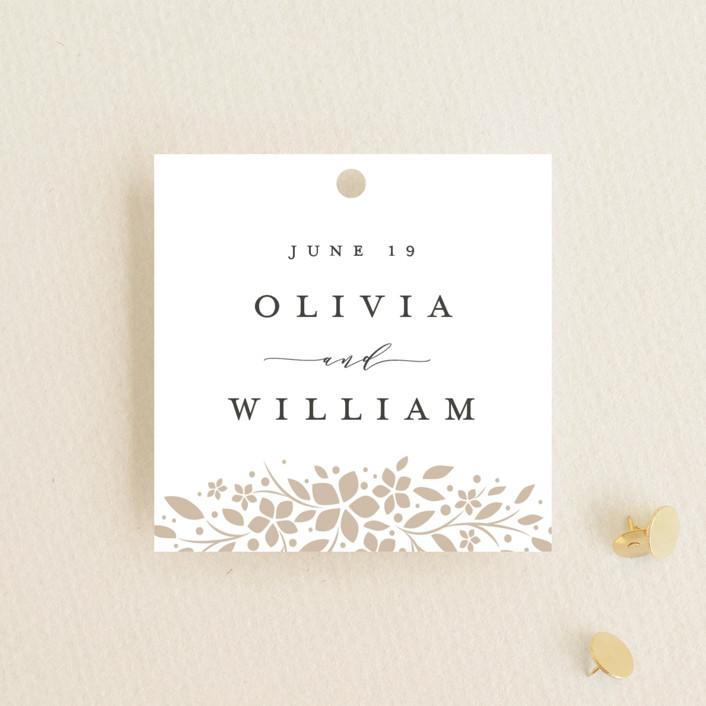 """trellis"" - Wedding Favor Tags in Flaxen by Melanie Kosuge."