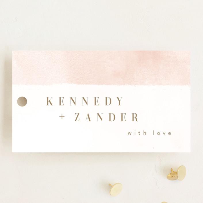 """Zara"" - Wedding Favor Tags in Blush by Kristie Kern."