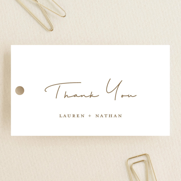"""""""Burnished"""" - Bohemian Wedding Favor Tags in Smoky by Susan Brown."""