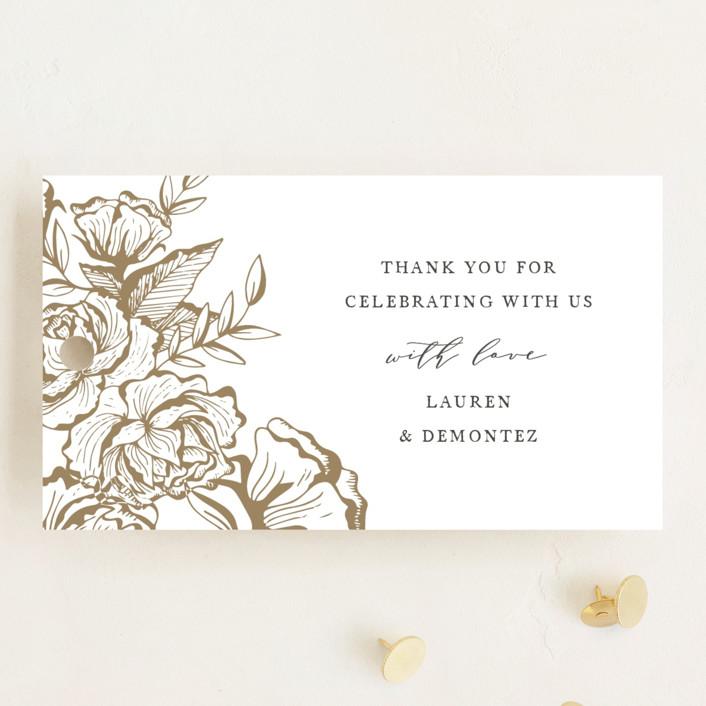 """""""Beautiful Bouquet"""" - Rustic Wedding Favor Tags in Slate by Jennifer Postorino."""