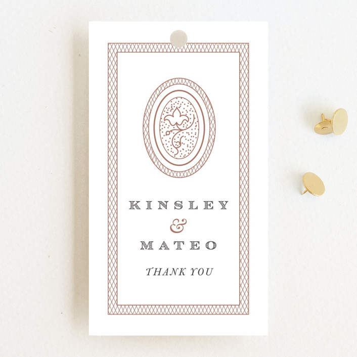 """Intricate"" - Vintage Wedding Favor Tags in Classic by Design Lotus."