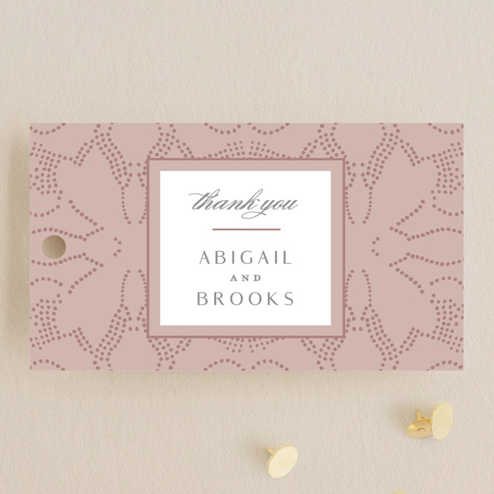 """Nicolette"" - Bohemian Wedding Favor Tags in Peony by Susan Zinader."