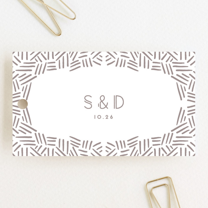 """""""Confetti Frame"""" - Wedding Favor Tags in Cotton by Gwen Bedat."""
