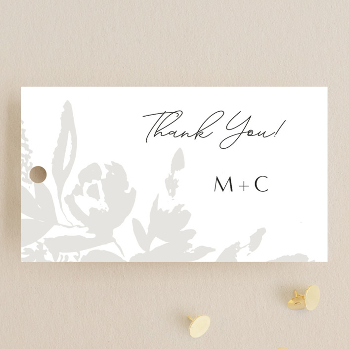 """""""Wedding veil"""" - Wedding Favor Tags in Pearl by Chris Griffith."""