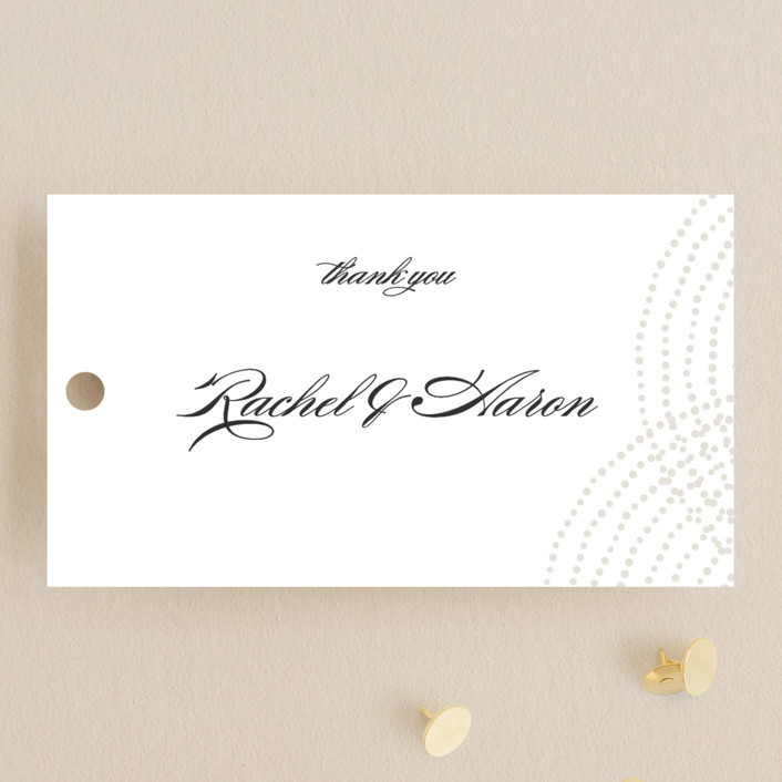 """""""Bespeckle"""" - Wedding Favor Tags in Pearl by Benita Crandall."""