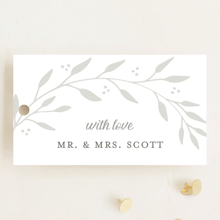 """""""Vineyard"""" - Wedding Favor Tags in Lace by Tennie and Co.."""