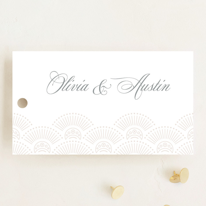 """""""Adorn"""" - Vintage Wedding Favor Tags in Shimmer by Kristen Smith."""