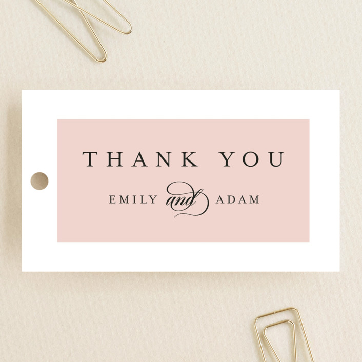 """Classic Bars"" - Wedding Favor Tags in Peachy by Kasia Labocki."