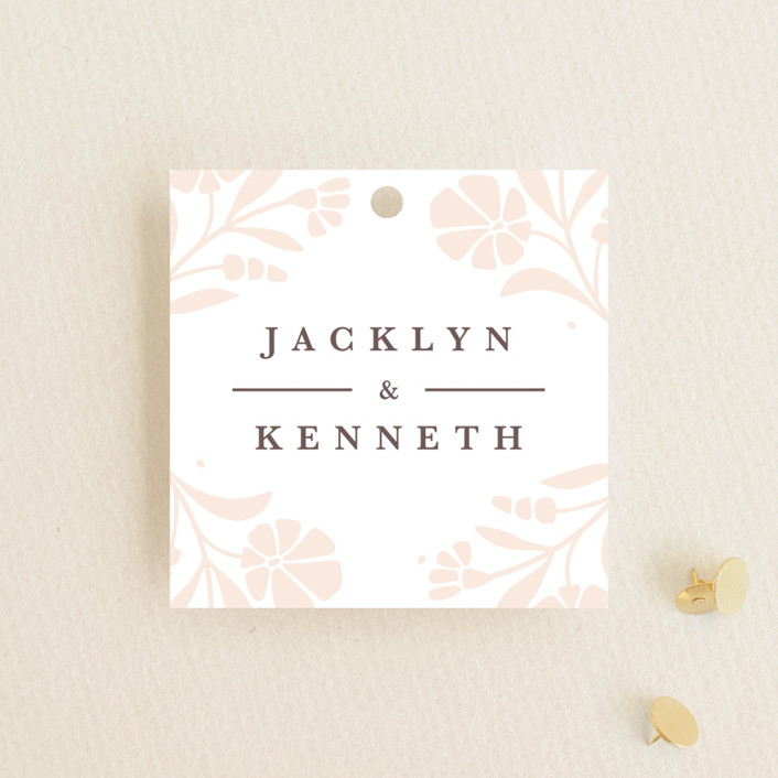 """Jasmine"" - Wedding Favor Tags in Shimmer by Kristen Smith."