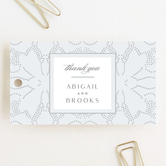 """""""Nicolette"""" - Wedding Favor Tags in Frost by Susan Zinader."""