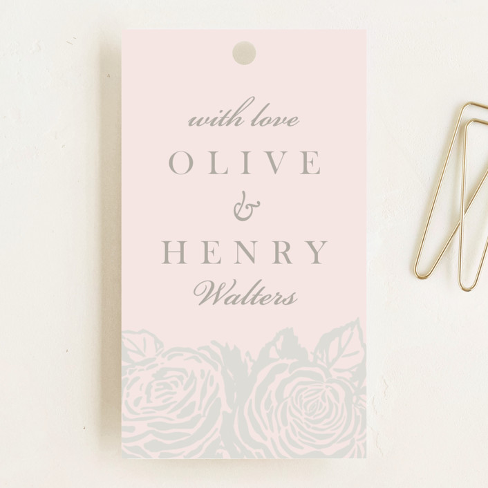"""""""House of York"""" - Wedding Favor Tags in Peony by Christie Kelly."""
