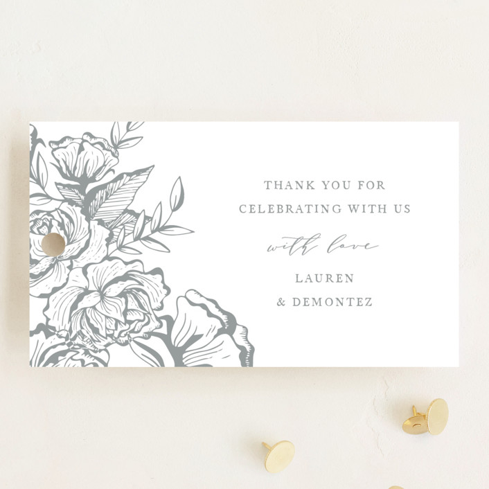 """""""Beautiful Bouquet"""" - Wedding Favor Tags in Cathedral by Jennifer Postorino."""