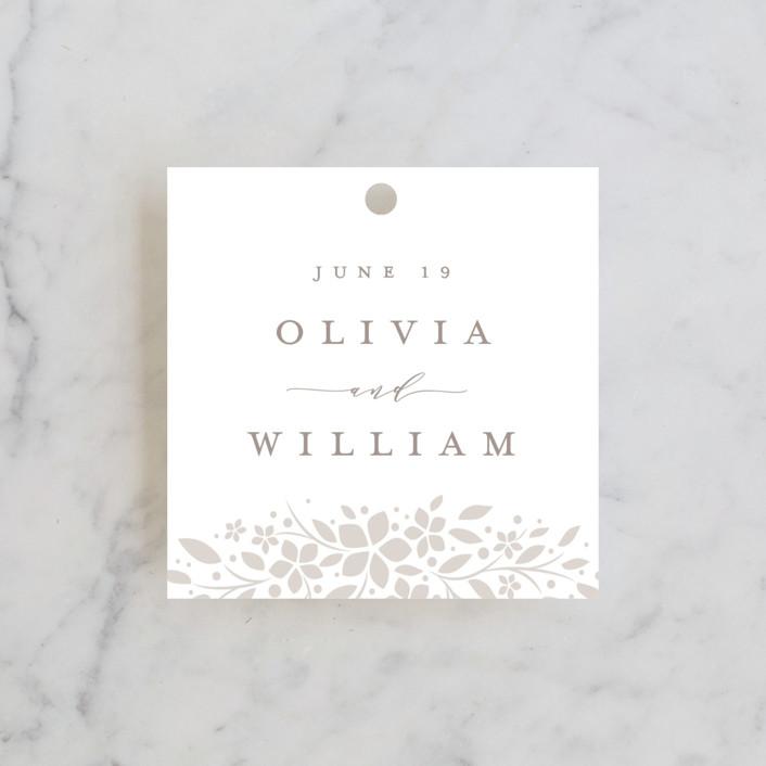 """trellis"" - Wedding Favor Tags in Opal by Melanie Kosuge."