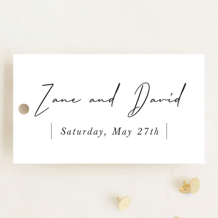 """""""our moment"""" - Wedding Favor Tags in Cloud by Sara Hicks Malone."""