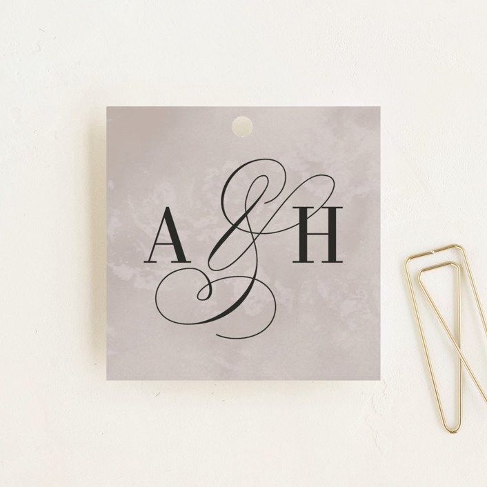 """Polished"" - Wedding Favor Tags in Smoke by Pine and Lark."