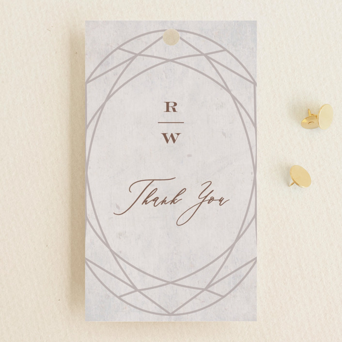 """Mirror, Mirror"" - Vintage Wedding Favor Tags in Taupe by fatfatin."