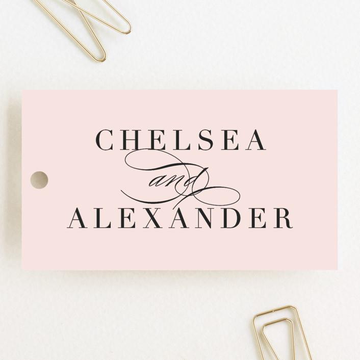 """Enchanted Evening"" - Wedding Favor Tags in Blush by Ashley DeMeyere."