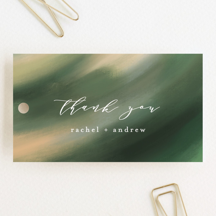 """""""Forever One"""" - Wedding Favor Tags in Linen by Mansi."""