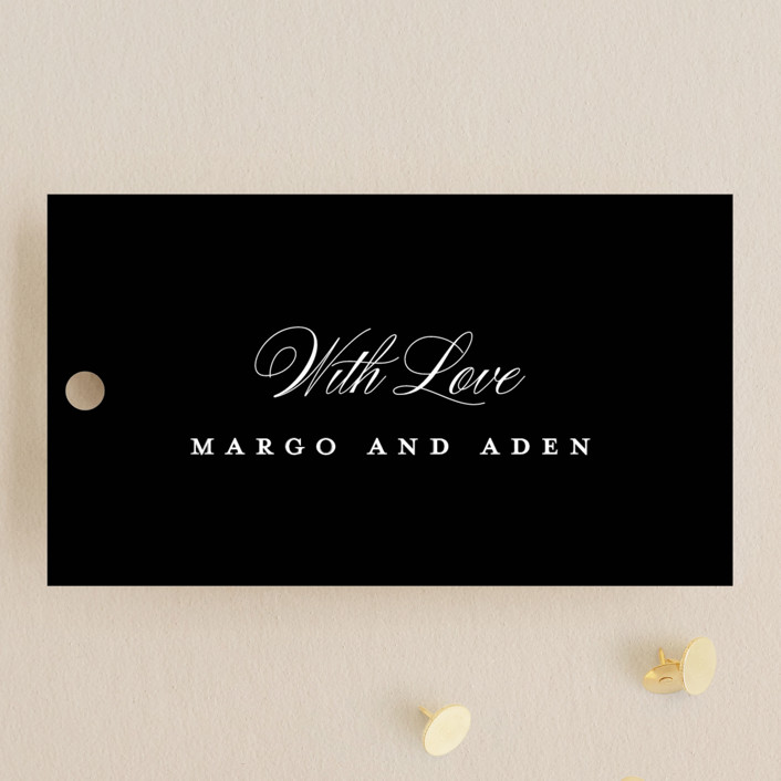 """""""clean and classic"""" - Wedding Favor Tags in Ivory by Laura Hamm."""