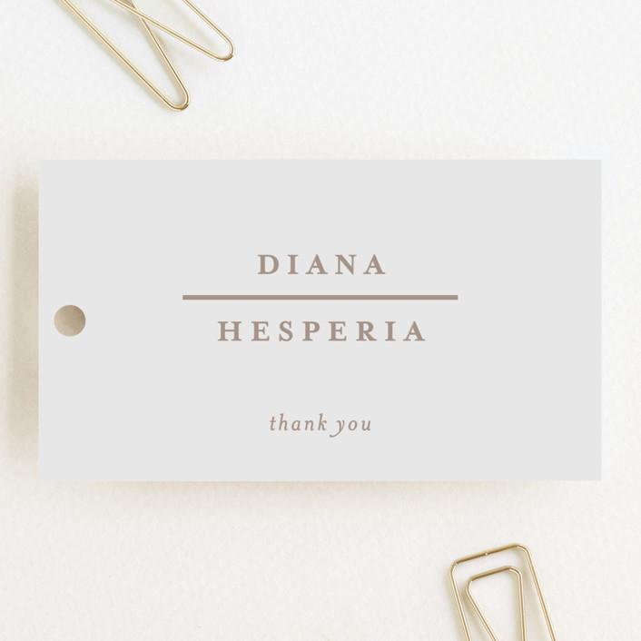 """""""Lydra"""" - Wedding Favor Tags in Magnolia by elena diaz."""