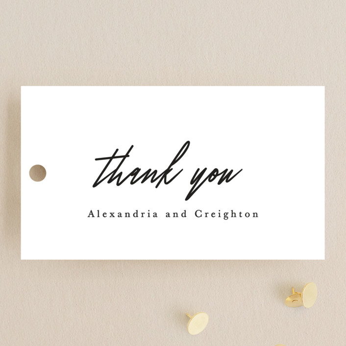 """""""parallel lines"""" - Wedding Favor Tags in Blanc by Faith Dorn."""