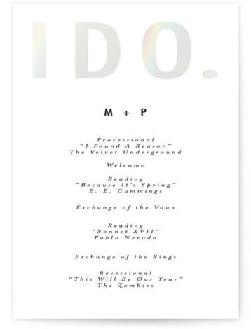 Oui Gloss Press Wedding Program