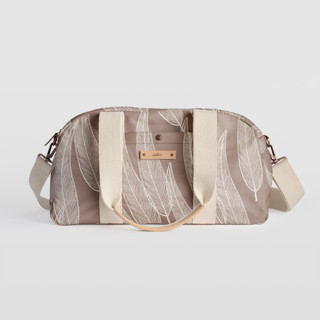 This is a purple travel duffel bag by Katharine Watson called Sketched Willow in standard.