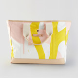 This is a yellow weekender tote  by Cascino Lab called Yellow Branches.