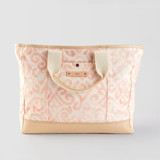This is a pink weekender tote  by Liz Conley called Painted Damask.