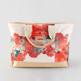 This is a pink weekender tote  by Lori Wemple called Floral Bouquet.