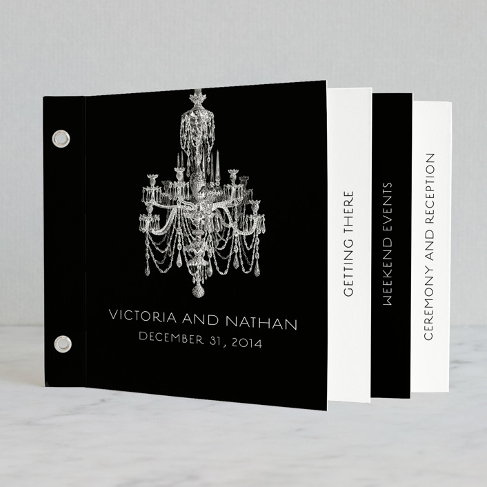 """Chandelier"" - Classical, Formal Minibook Accessories in Black by Splendid Press."