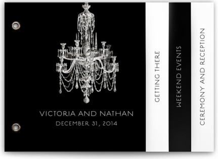 Chandelier Wedding Announcement Minibooks