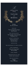 This is a blue unique wedding program by Jennifer Postorino called etched wreath with foil-pressed printing on signature in standard.