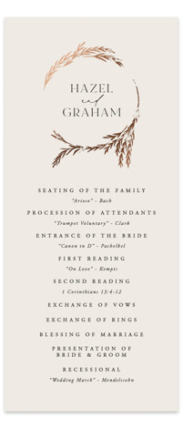 Locket Foil-Pressed Wedding Programs
