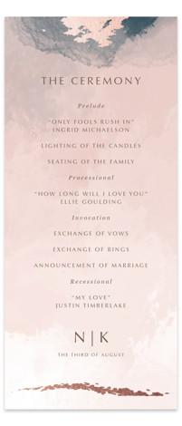 Watercolor Sunset Foil-Pressed Wedding Programs