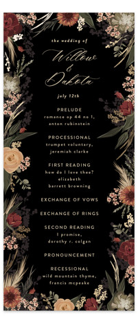 Botanical Edge Foil-Pressed Wedding Programs