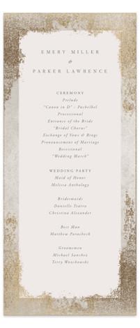 Marquis Foil-Pressed Wedding Programs