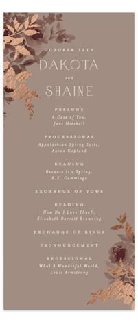 Blooms Foil-Pressed Wedding Programs