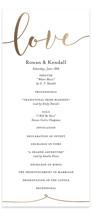 Forever Love Foil-Pressed Wedding Programs