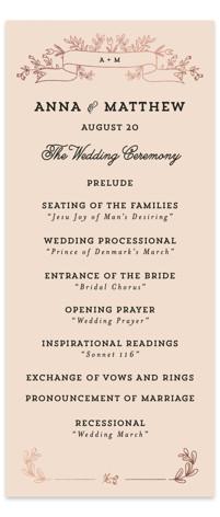 Wedding Bouquet Foil-Pressed Wedding Programs