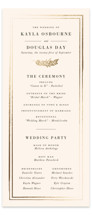 This is a beige unique wedding program by Sarah Brown called Subtle with foil-pressed printing on signature in standard.
