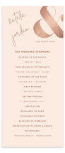 This is a orange unique wedding program by Jhudy called modern ampersand with foil-pressed printing on signature in standard.