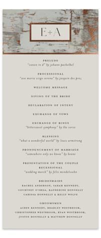 Gilded birch bark Foil-Pressed Wedding Programs