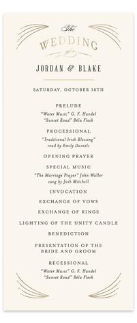 Arched wedding Foil-Pressed Wedding Programs