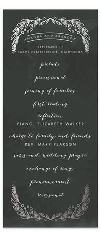 Chalkboard Foil-Pressed Wedding Programs