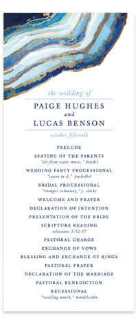 Gilt Agate Foil-Pressed Wedding Programs